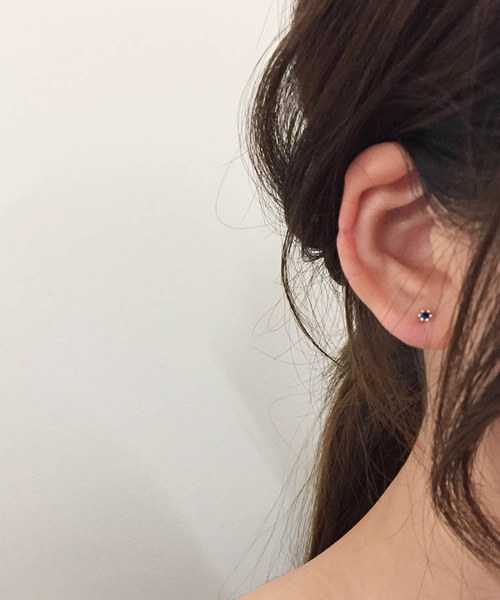 (silver925) point earring