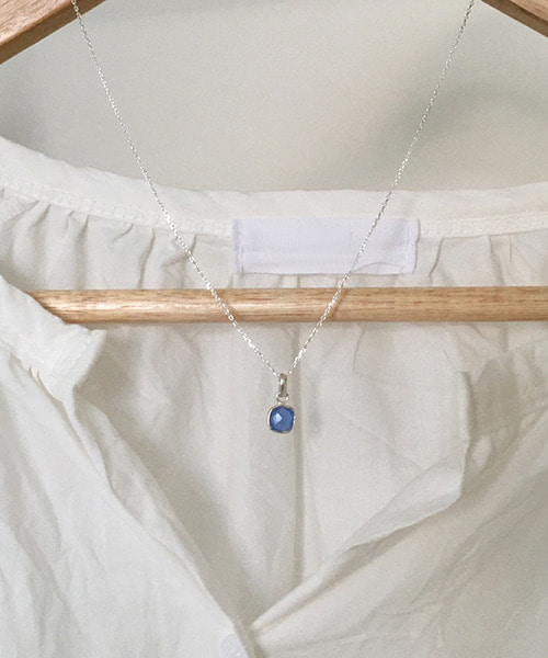 (silver925) blue necklace