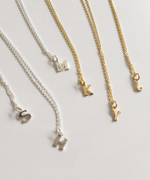 (silver925) initial necklace [A~Z]